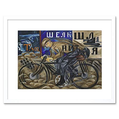 Wee Blue Coo LTD GONCHAROVA The Cyclist Framed Art Print F12X11073