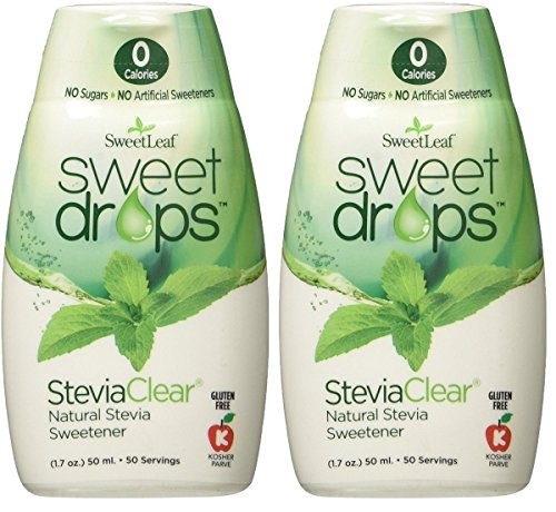 SweetLeaf Sweet Drops Liquid Stevia Sweetener, Steviaclear, 1.7 Ounce (Pack of 2)