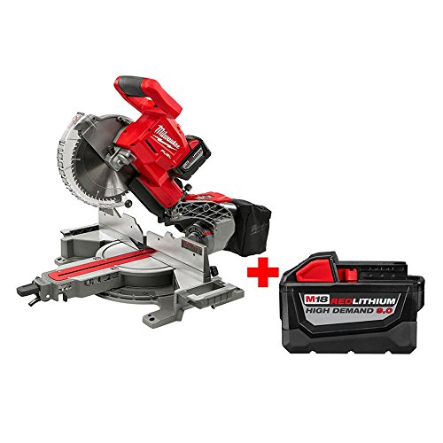 Milwaukee M18 18-Volt FUEL Lithium-Ion Brushless Cordless 10 in. Dual Bevel Sliding Compound Miter Saw Kit w/ Free 9AH Battery   Great Addition for Your Carpentry Workshop or Machine Shop