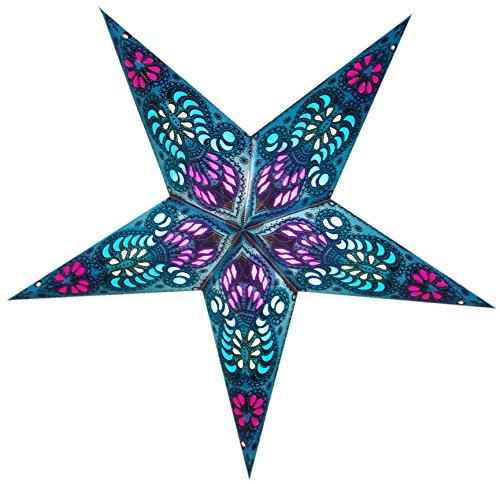Láminas Paper Star hechas a mano en colores y diseños centelleantes ARCTURUS - Turquesa