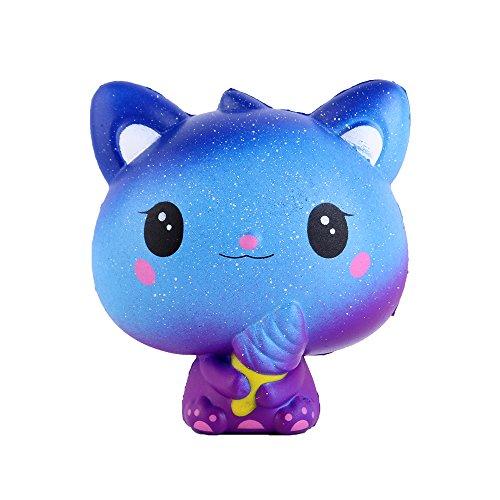 """Anboor 3.9 """"Squishies Cat Galaxy Helado Kawaii Suave Crecimiento Lento Perfumado Animal Squishies Alivio del estrés Juguetes para ni?os Colección de Regalos"""