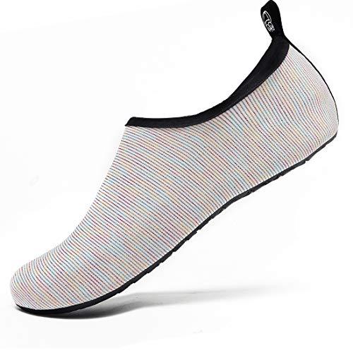 VIFUUR Water Sports Unisex/Kids Shoes White/Multi - 7.5-8.5 W US / 6-7 M US (38-39)
