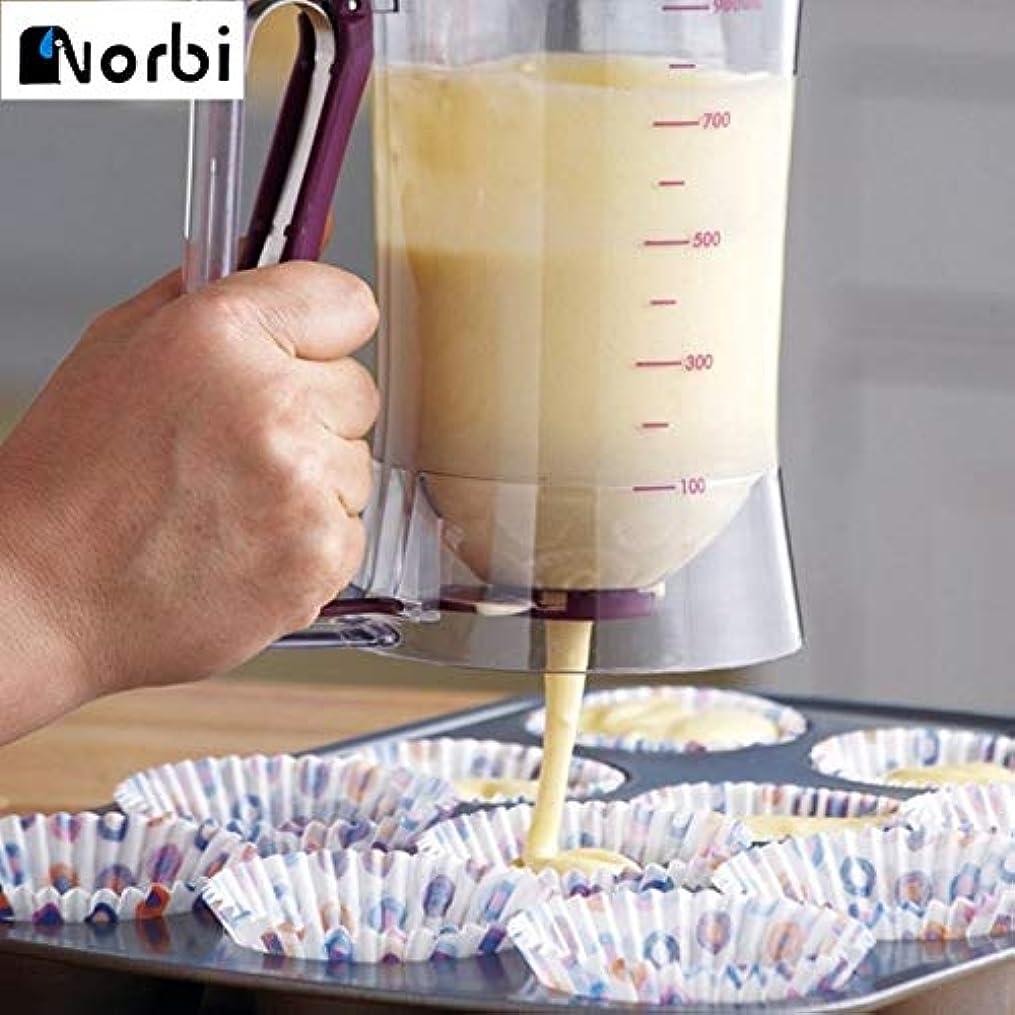 スロープ大理石ケーブルバターディスペンサークリーム測定カップカップケーキパンケーキクッキーケーキスープラベーキングツールケーキマフィンベーキングワッフルベーキング:中国、白
