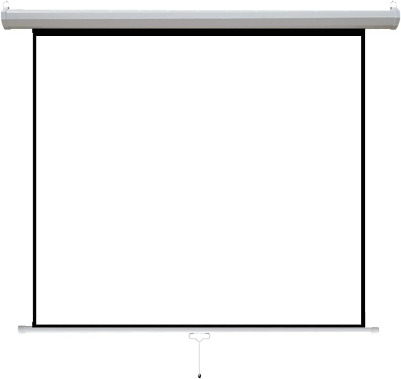 60'' Projector Screen Projection Screen, 16:9 HD Widescreen Retractable Auto-Locking Portable Projection Screen, Home Theater Movie Theatre White Projection Screen