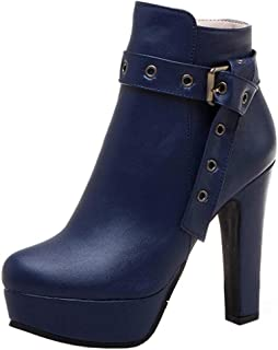 Melady Women Fashion Autumn Shoes Block Heels Ankle Boots