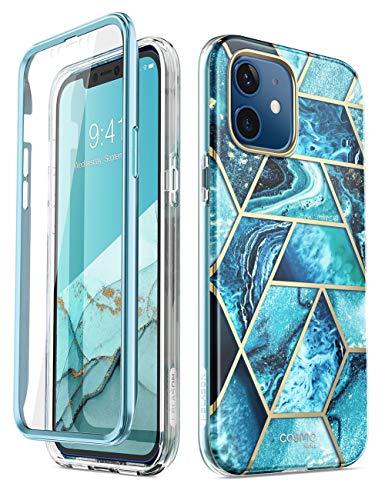 i-Blason Serie Cosmo progettata per iPhone 12 Mini (2020), custodia sottile e alla moda, con protezione schermo integrata, oceano