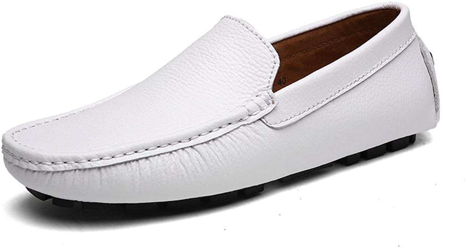 DuoShengZhTG Men's Stylish Driving Penny Loafers Casual shoes Bare Vamp Leisure Boat Moccasins Soft Rubber Sole shoes