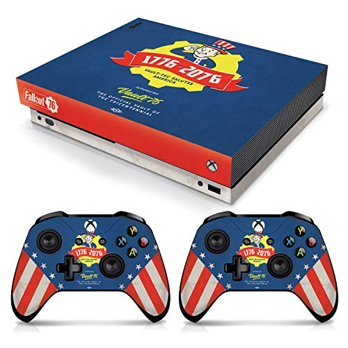 Controller Gear Officially Licensed Console Skin Bundle for Xbox One X - Fallout - Tricentennial