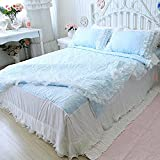 MeMoreCool Custom Made White Lace 3Pcs Bedding Set Beautiful Princess Bedding Romantic Wedding Bedding Set Well-made Duvet Cover Set