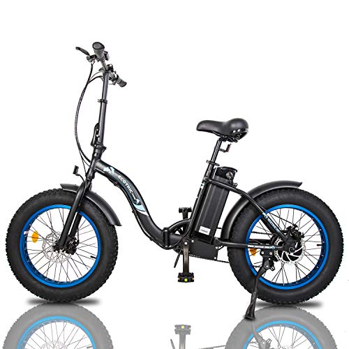 "ECOTRIC Powerful 500W 20"" Fat Tire Folding Electric Bicycle"