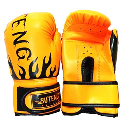 MEISISLEY Boxhandschuhe Kinder Box Handschuh Boxsackhandschuhe Boxsackhandschuhe Trainingsboxhandschuhe Boxhandschuhe für Erwachsene orange,Adult
