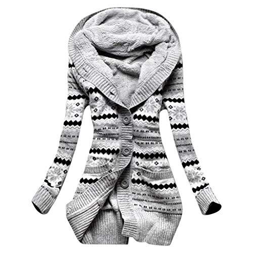 SHINEHUA gebreide jas dames cardigan grof gebreid met capuchon outwear lange mouwen teddy fleece gebreide cardigan jas mantel warme wintermantel gebreide sweater coat hoodie jassen tops
