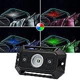 RGBW LED Dome Light W/ Switch LZHOU TECH Universal LED Lights Utility Roll Cage Light Car Interior Reading Light LED Rock Light Interior Dome Light for ATV UTV Truck RZR 4x4 Offroad-White/RGB