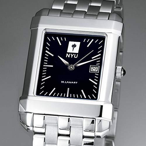 NCAA NYU Violets Herren Armbanduhr von M.LaHart & Co, Herren, by M.LaHart & Co, Schwarzes Quadrat mit Armband, Einheitsgröße