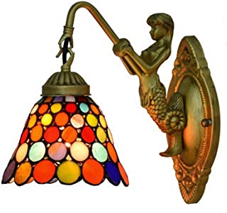 ZKS-KS Outdoor Wall Lamp Wall Lamp Retro Simple Stained Glass Corridor Wall Sconce Lamp Fixture Home Decoration For Corrid...