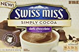 Swiss Miss, Simply Cocoa, Dark Chocolate, Hot Cocoa Mix, 8 Count, 7.68oz Box (Pack of 3)