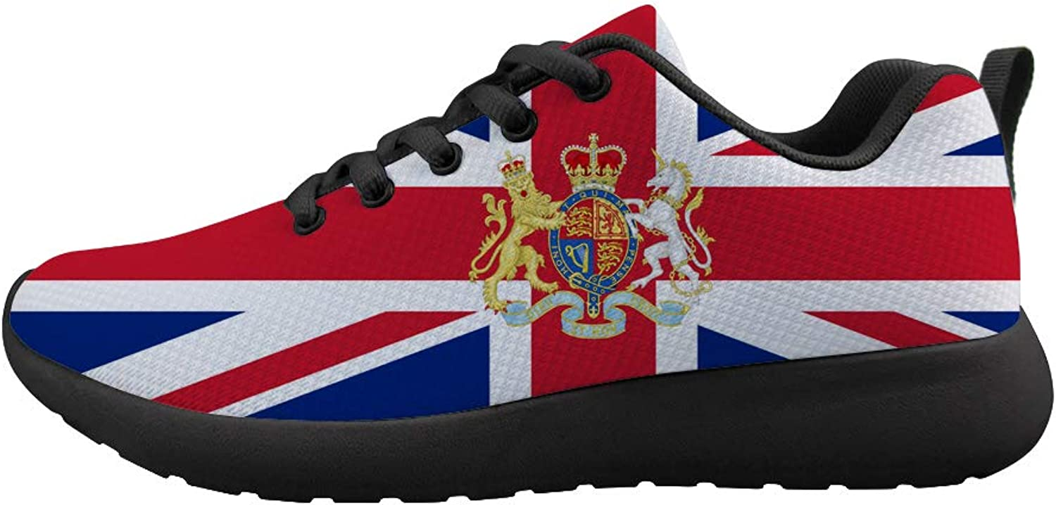 Owaheson Cushioning Sneaker Trail Running shoes Mens Womens London Britain Flag National Emblem