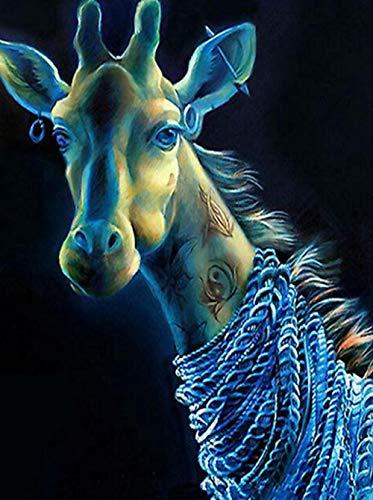 Puzzel Voor Volwassenen 1000 Stukjes, Cool Blue Giraffee, 1500/1000/500/300 Stukjes, Puzzel Spelletjes Woondecoratie Cadeaus