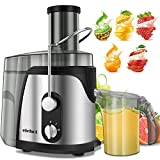 ELEHOT Juicer Machine Juice Extractor 700 Watt Wide Mouth Stainless Steel Dual-Speed Centrifugal Juicer for Fruits and Vegetable