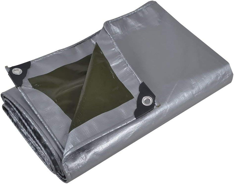 ATR Verdicken Sie regendichte Plane, Plastikblatt-Bodendecker-Sonnenschutz-Hochleistungsregenschutz, mehrfache Gren GAOFENG (Farbe  Grün + Silber, Gre  5  7m)