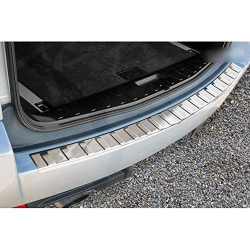 ZLYCZW Protector de Parachoques Trasero de Acero Inoxidable, Cubierta de Placa umbral de protección contra arañazos de Maletero Coche, Accesorios de Estilo, Apto para BMW X3 (E83) Facelift 2006-2010