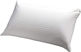 Soft Stripe Hotel Pillow 1.2 kg, P-5 Polyester, Queen size, White, W 63.0 x H 52.4 x L 14.2 cm