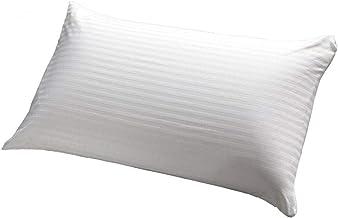 Comfy White Rich Cotton Pin Stripe 300 Thread Count Micro Fiber Pillow,White