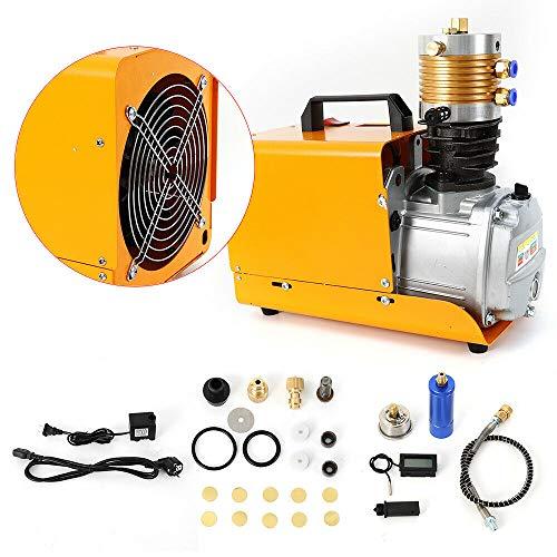 Bomba compresora de aire, 0 – 30 MPa 1800 W, bomba de aire eléctrica, silencioso 70 dB, 2800 U/min, refrigeración por agua y refrigeración de aire (220 V)