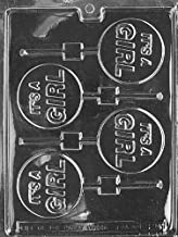 Cybrtrayd Life of the Party B024  It's a Girl Lolly Chocolate Candy Mold in Sealed Protective Poly Bag Imprinted with Copyrighted Cybrtrayd Molding Instructions