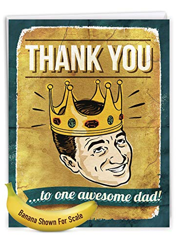 NobleWorks - Jumbo Fathers Day Card Funny (8.5 x 11 Inch) - Hilarious Greeting Notecard for Dads, Grandpa - Awesome Dad J0234 Photo #6