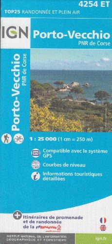 IGN 4254 ET Porto-Vecchio, PNR de Corse (Korsika, Frankreich) 1:25.000 topographische Wanderkarte IGN