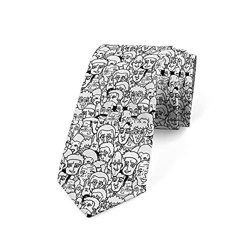 Paedto Corbatas de Hombre, Corbatas de Moda de Novedad para Hombres Corbata Delgada para Caballeros, Lazos de Moda para Negocios Formales Informales (Personajes de Comic Man)-8x145cm
