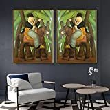 Avdgfr HD Printed on Canvas-[2PCS President and First Lady] Canvas Wall Art-Personalised Family Picture Photo Print Wall Art 60X80cm 2PCS Frameless