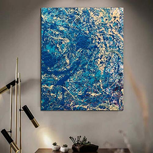 WPJ Bleu Classique Mur Art Toile Peinture Affiche...