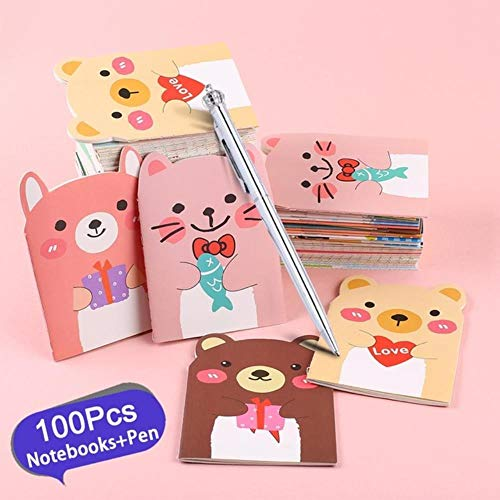 100Pcs Kawaii coreano Notebook Cute Planner Agenda Agenda de...