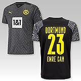 TSH7NDF Dortmund Erwachsene Trikot Away 2021/22, Größe:L, Spielername:23 Emre Can