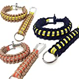 Flashfire Supply Firefighter Paracord Adjustable Survival Bracelets Yellow/Orange (Beige & Yellow)