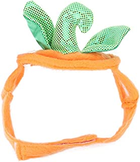 Bicaquu Pet Pumpkin Cap Cat Small Dog Hat Headgear for Party Halloween Cosplay for Halloween Party