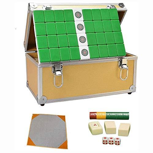 Big Shark Mahjong Fliese Reisebrettspiel Chinese Traditional Mahjong Spiele, bewegliche Größe und Dünner Professionelle Mahjong Game Set