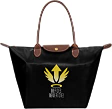 Mercy Heroes Never Die Logo Ov-erwatch Waterproof Leather Folded Messenger Nylon Bag Travel Tote Hopping Folding School Handbags