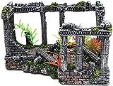 Aquarium decoraciones paisaje, peces tanque acuario adorno, colección decorativa ruinas esculturas templo romano decoración arquitectónico modelo escultura vintage castillo peces tanque acuario creati