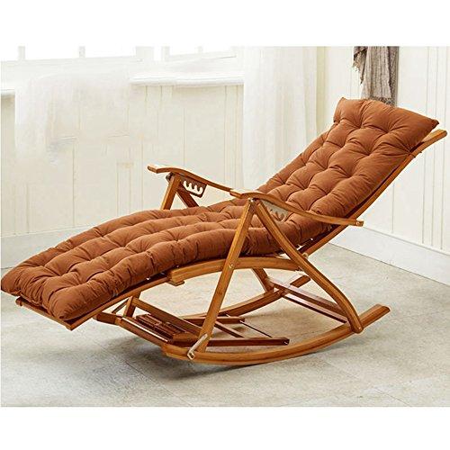 LVZAIXI Lounge stoelen, schommelstoelen, terras ligstoelen, stoelen, oude mensen, bamboe dek stoelen, zomer luieren bedden, plafond kantoren