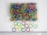 Progom - Elastiques -25(Ø16) mm x 1.7mm - Multi couleurs (blanc, jaune, vert, rouge, bleu) - sac de 100grs