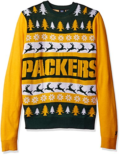 NFL Green Bay Packers WORDMARK Ugly Sweater, Medium