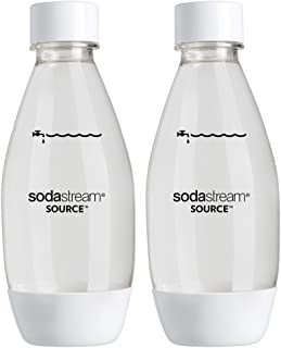 SodaStream Carbonating Bottles 0.5L Twin Pack Fuse White 0.5L