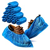 ACKO Shoe Covers Disposable 100 Pack (50 Pairs) Disposable Shoe & Boot Covers Waterproof Slip Resistant Non Slip, Durable Boot&Shoes Cover, One Size Fits All (Blue)