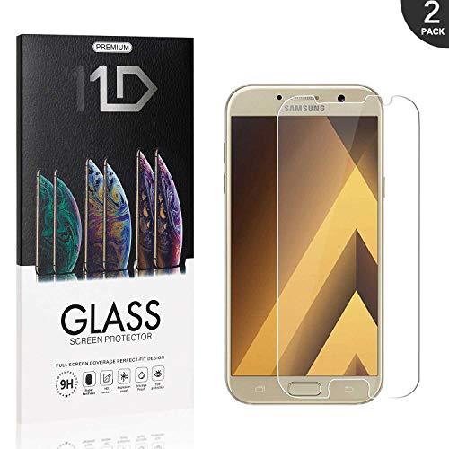 2 Pezzi Pellicola Vetro Temperato Compatibile con Galaxy A3 2017, LAFCH HD Alta Trasparenza Pellicola Protettiva in Vetro Temperato Screen Protector per Samsung Galaxy A3 2017
