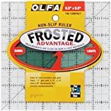 "Olfa NOM084590 Frosted Advantage Non-Slip Ruler The Compact, 6-1/2"" x 6-1/2"""