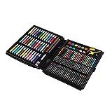 Harilla Conjunto de arte para niños 150 piezas acuarela rotuladores lápices de colores con caja de plástico