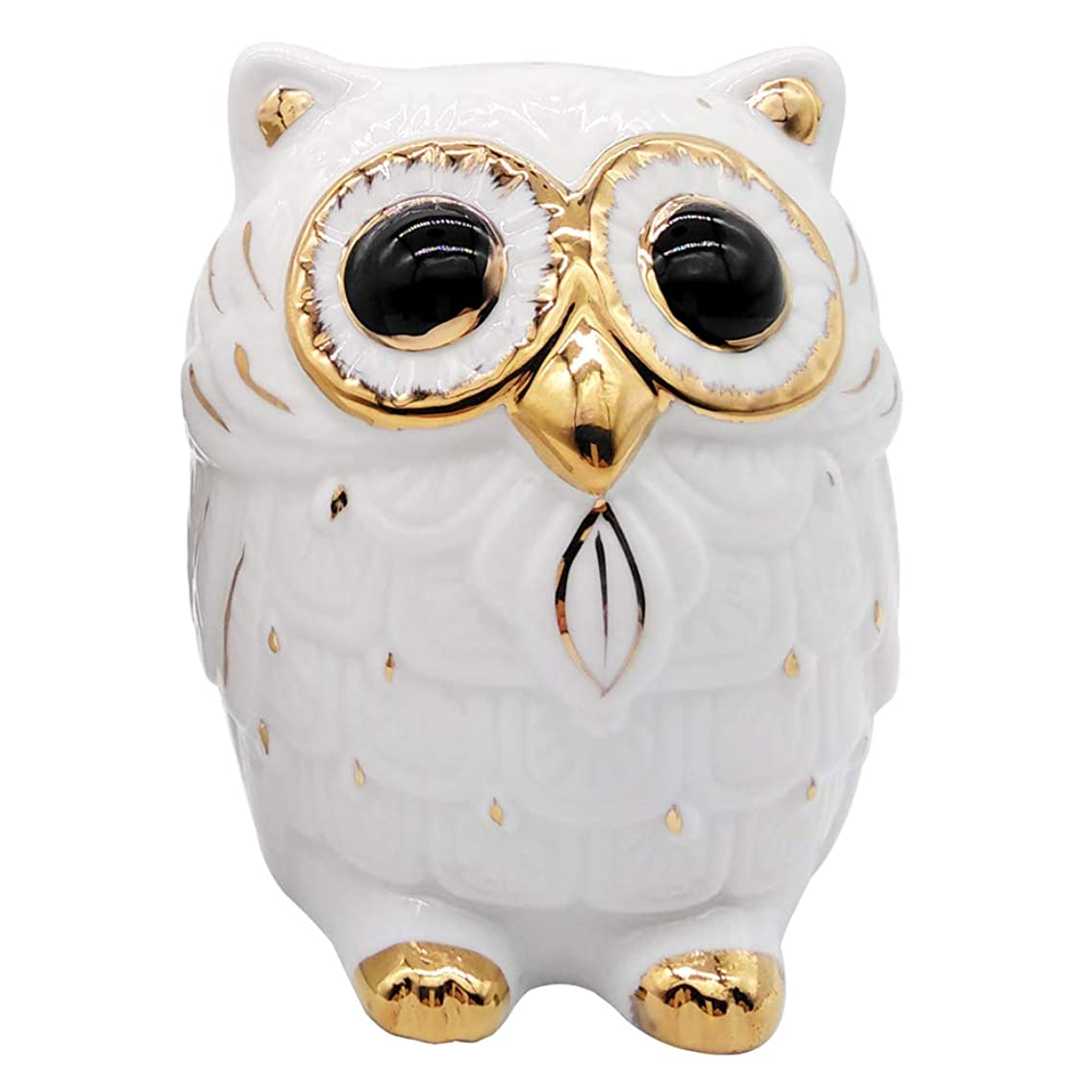iefoah Owl Girls Piggy Bank Cute Owl Shape Gifts Ceramic Coin Banks White Can Owls Christmas Birthday Gift for Adults Kids Children Baby Home Bedroom Nursery Decorative Oranment